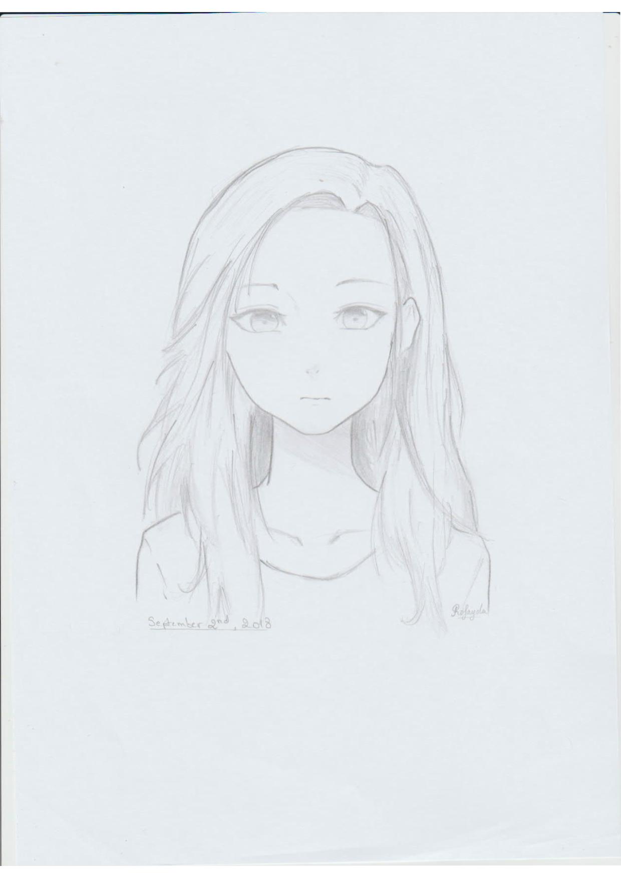 mangagirlpencilpotrait
